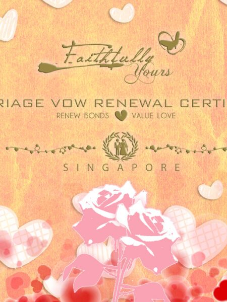 Print // Certificates // Faithfully Yours // Vow Renewal Wedding Certificate 2010