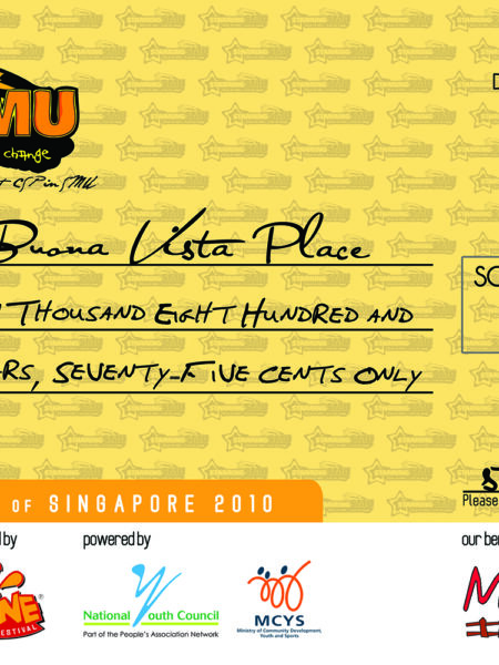 Print // Cheques // StarringSMU'10 // CarFoamParty Cheque